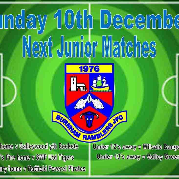 Junior fixtures