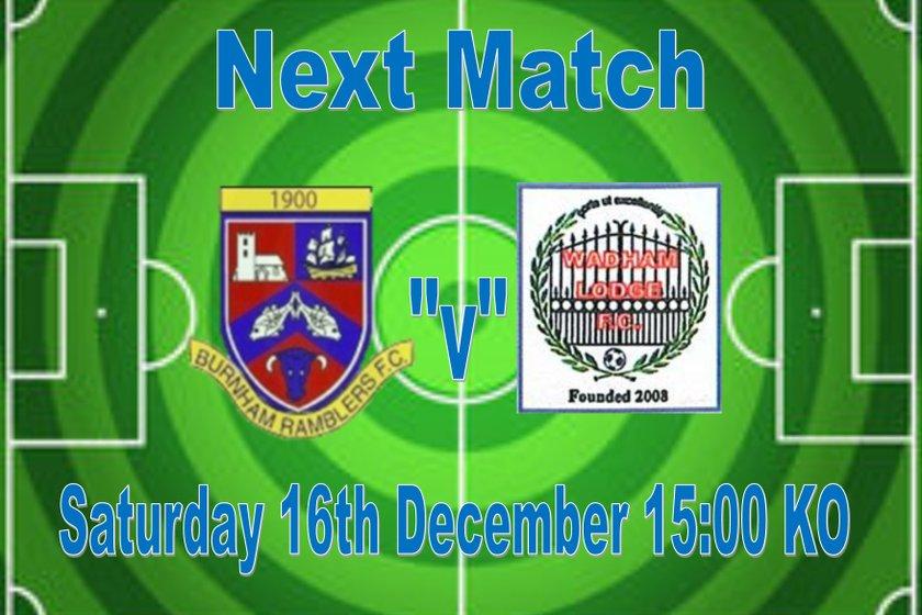 1st Team beat Wadham Lodge FC 3 - 2