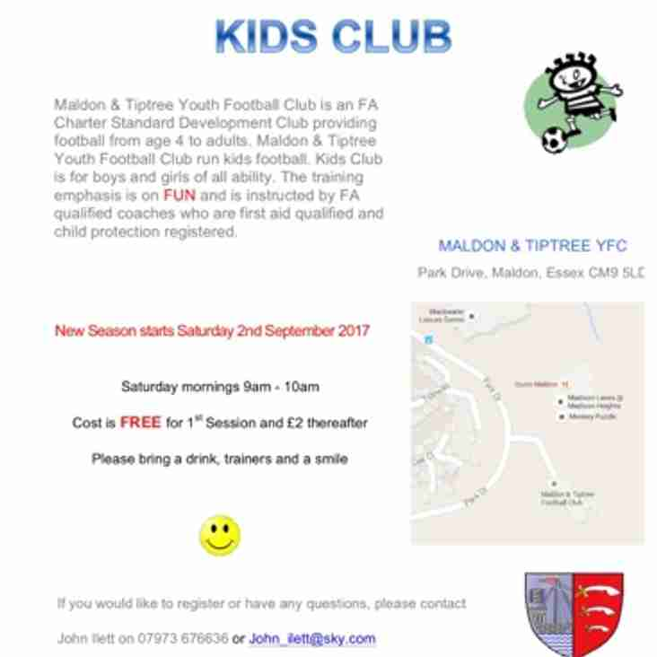 *** Calling all Mini Kickers - Kids Club Needs You ***