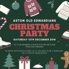 THIS WEEKEND! Christmas End Of Season Party