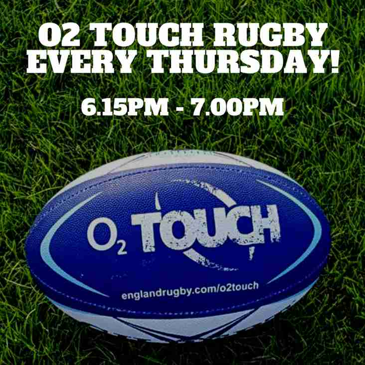 O2 TOUCH RUGBY - Every THURSDAY
