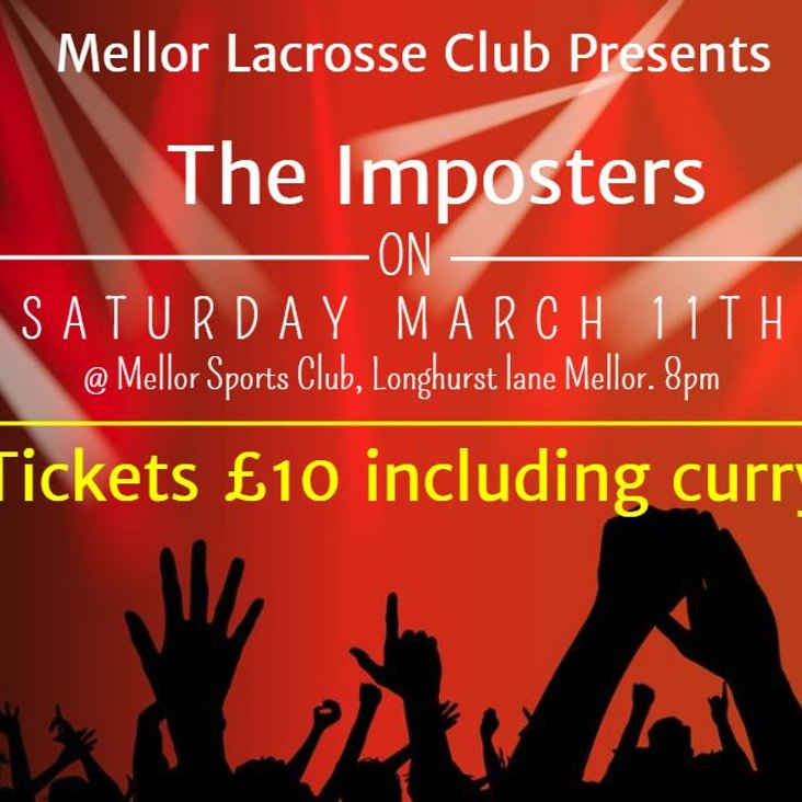 Mellor Lacrosse Club Presents &quot;The Imposters&quot; March 11th 8pm<