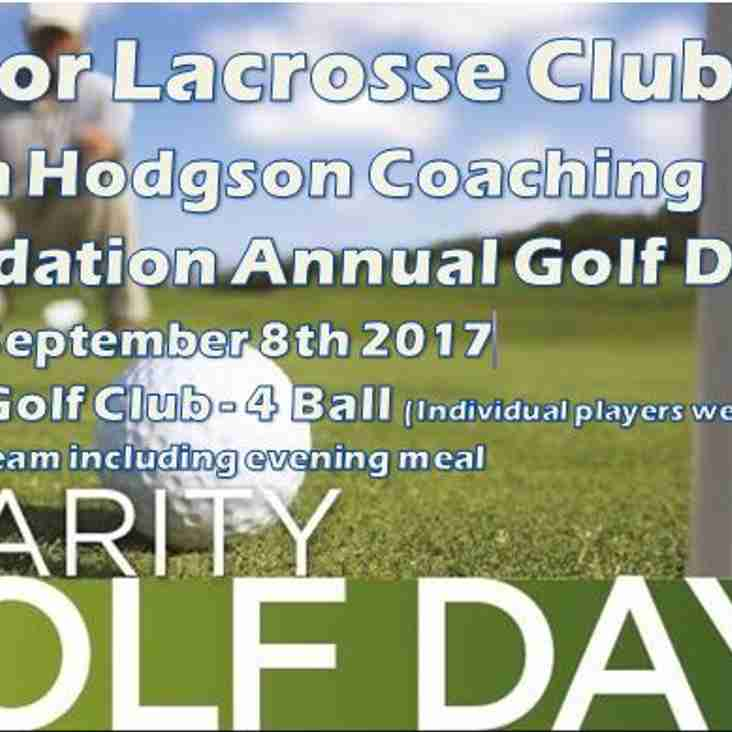 Robin Hodgson Coaching Foundation Annual Golf Day - Friday September 8th 2017