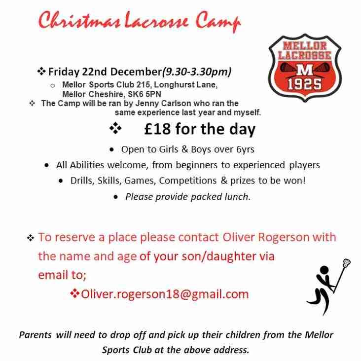 Christmas Lacrosse Camp