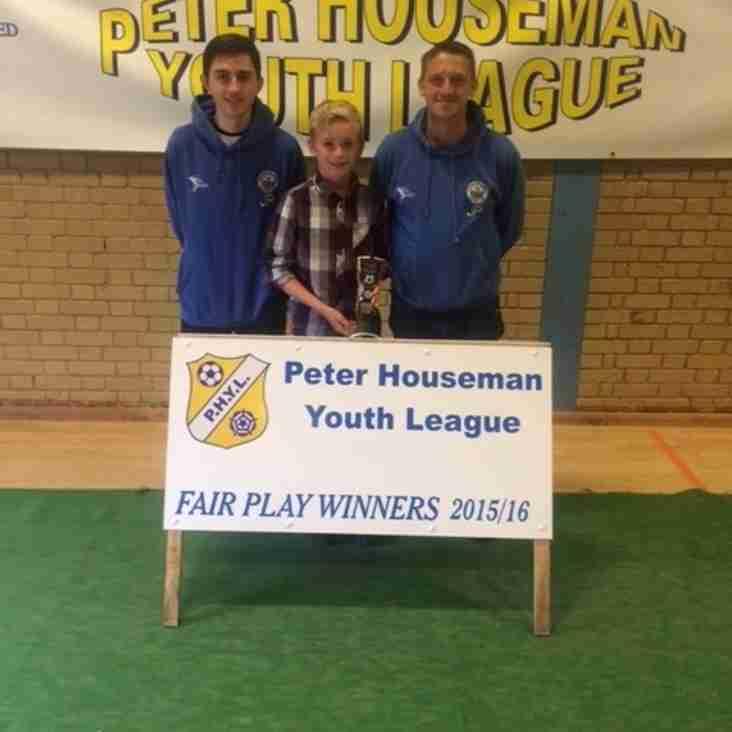 U11's Fair Play Award 2015/16