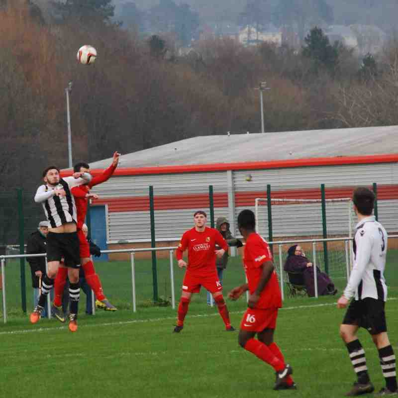 Pontardawe Town v Llanelli Town AFC 16th January 2016 (Courtesy of Steven Allender)