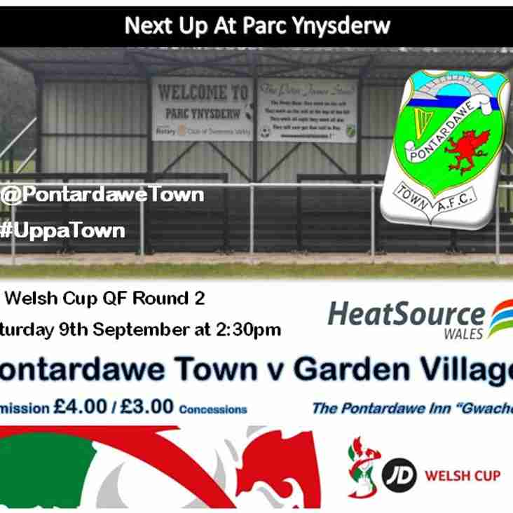 Garden Village visit in the Welsh Cup Qualifying Round Two