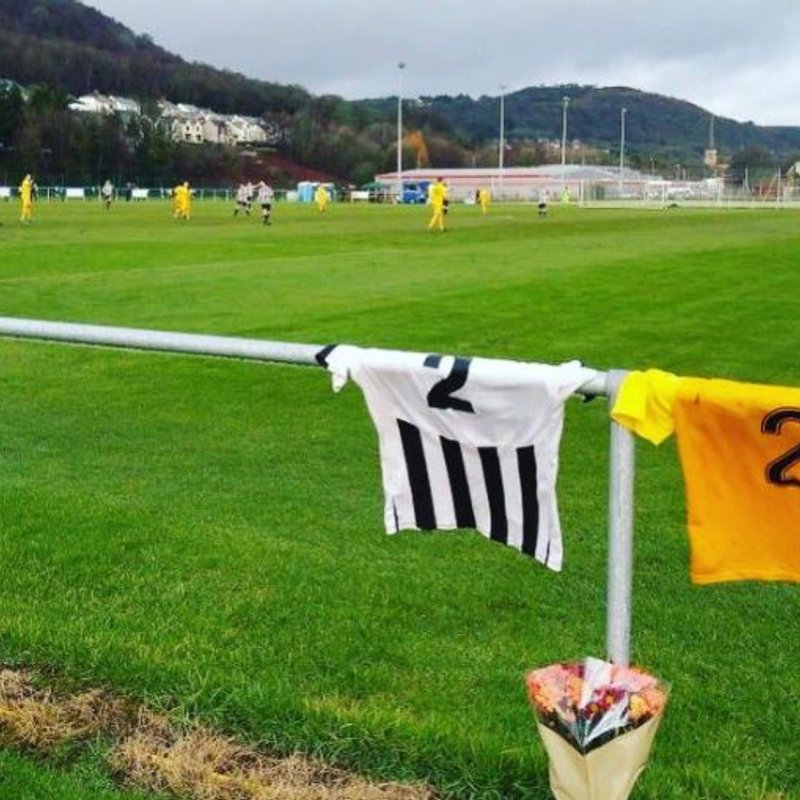 Pontardawe Town and West End Pay Tribute to Mitchell Joseph