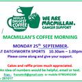 MACMILLAN'S COFFEE MORNING