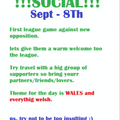 !!!SOCIAL!!! First league match