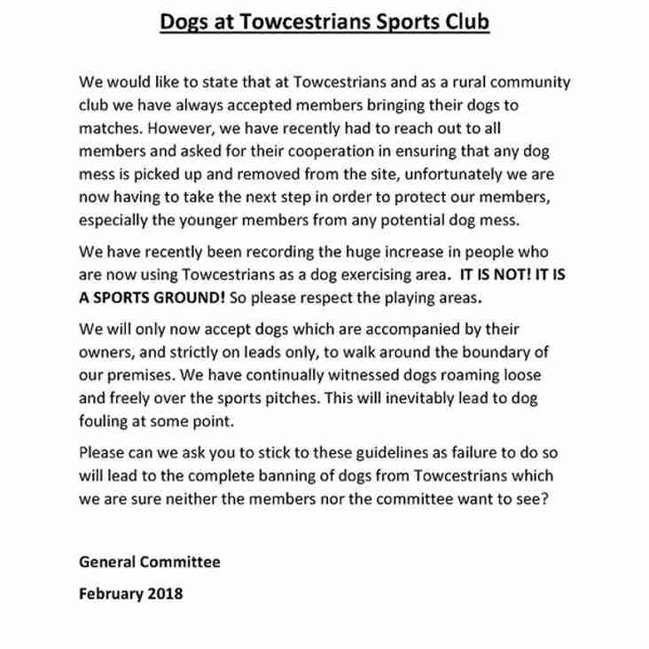 Dogs at Towcestrians Sports Club