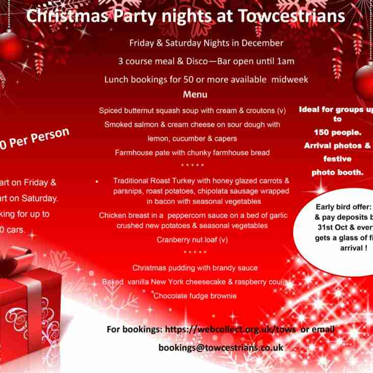 CHRISTMAS PARTY NIGHTS ARE BACK!!