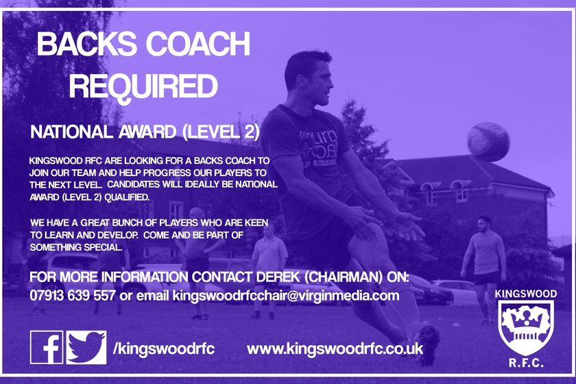 VACANCY: Backs Coach Required