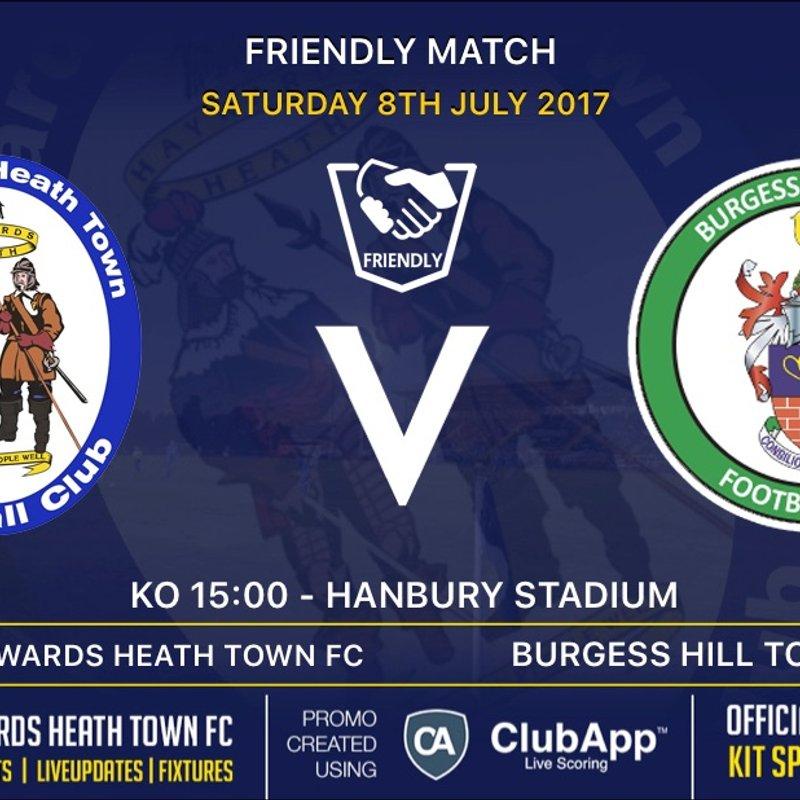 Heath Face The Hillians In Local Derby To Open Pre-Season Schedule