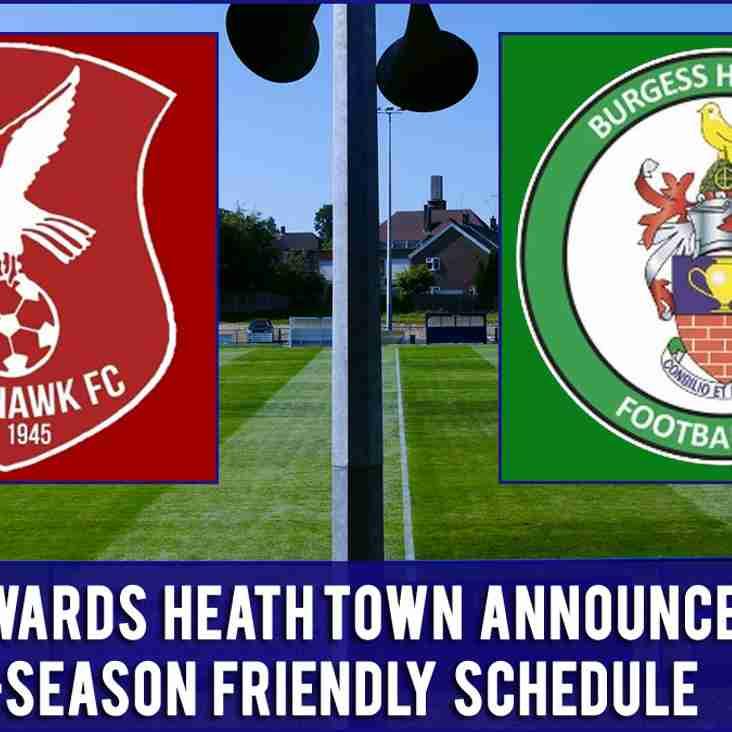 Whitehawk & Burgess Hill Town To Host Heath In Pre-Season Friendlies