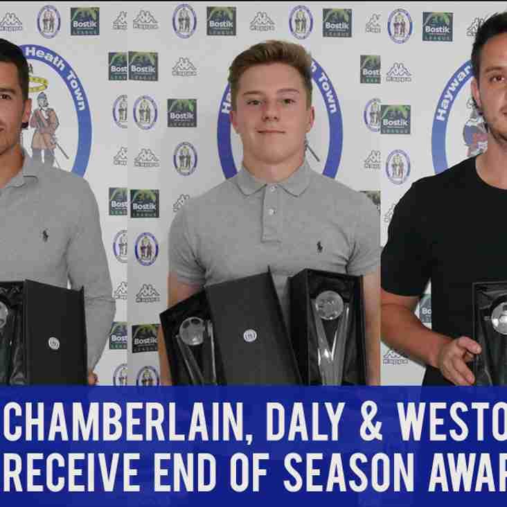 Chamberlain, Daly and Weston Pick Up Awards At Presentation Evening