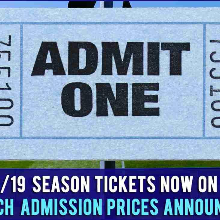 2018/19 Heath Season Tickets & New Match Day Pricing Announced
