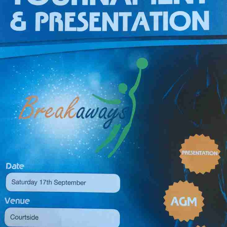 BREAKAWAYS INTER HOUSE TOURNAMENT/ PRESENTATION & AGM