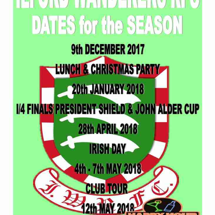 Dates for the Season