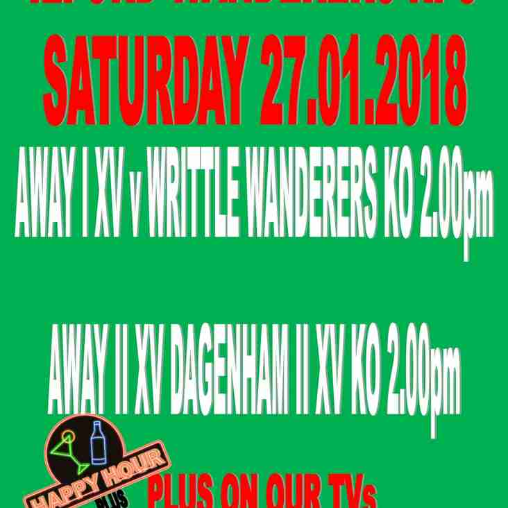 GAMES SAT 27th JANUARY