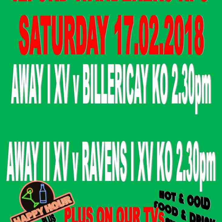 GAMES SAT 17th FEBRUARY 2018