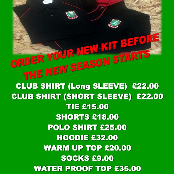 ORDER YOUR NEW KIT <