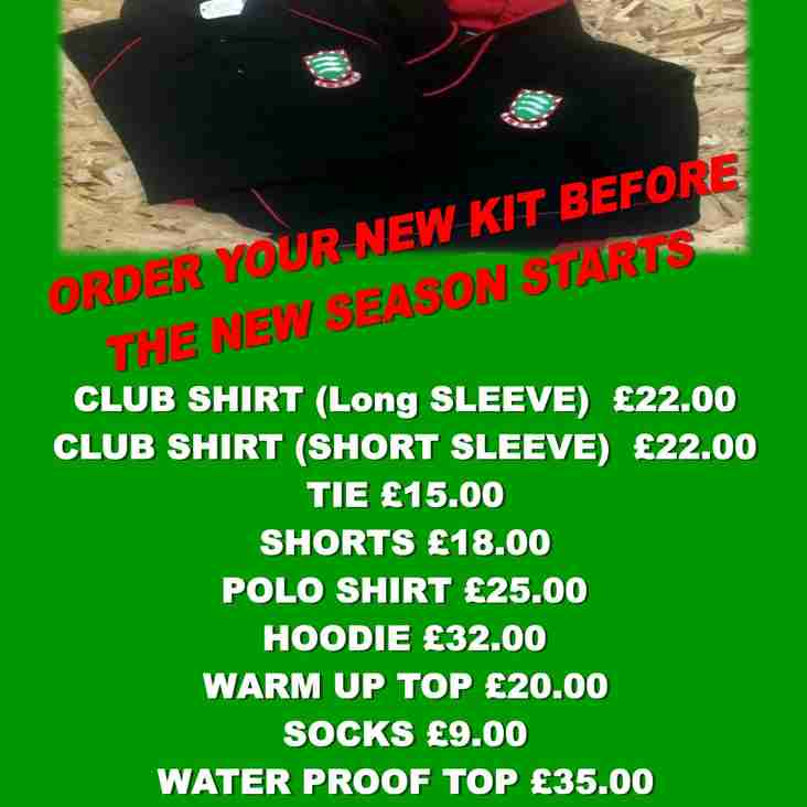 ORDER YOUR NEW KIT