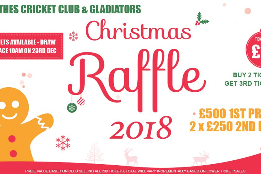 GCC & Gladiators Christmas Raffle 2018