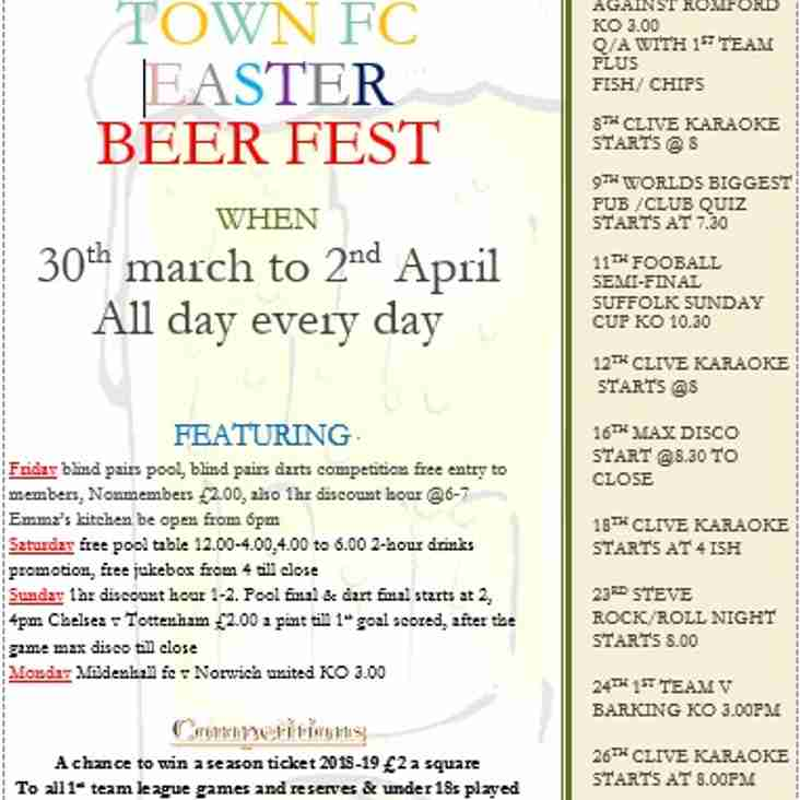 EASTER BEER FEST - UPCOMING EVENTS