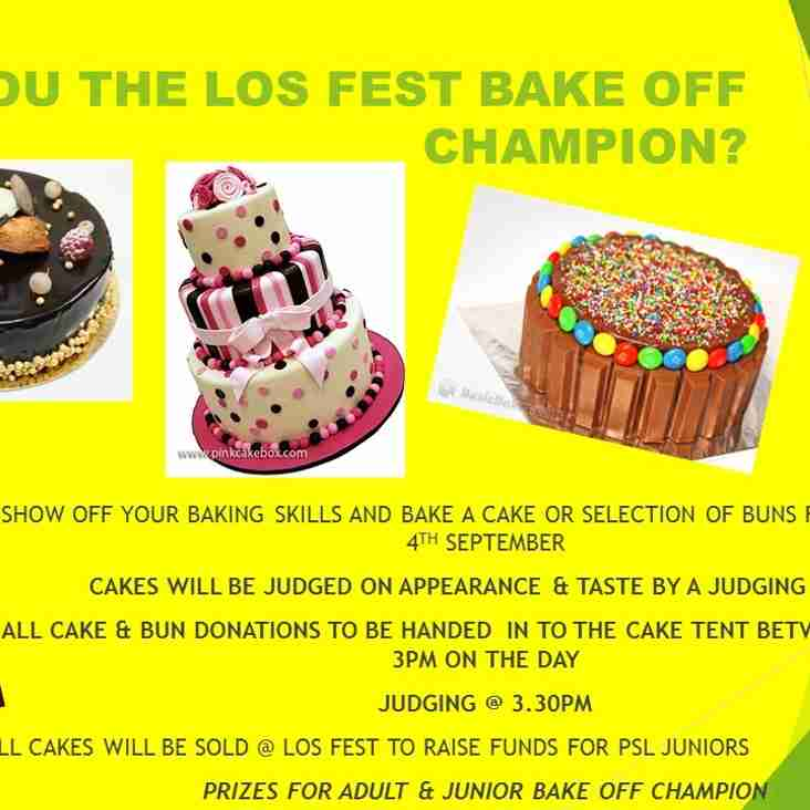 PSL LOS FEST BAKEOFF CHAMPION? SUNDAY 4TH SEPTEMBER