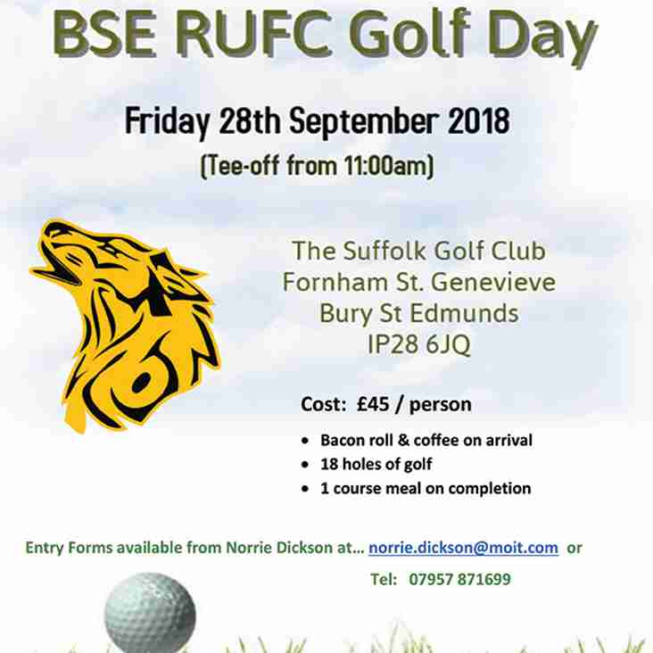 Second Annual Bury St Edmunds RUFC Golf Day