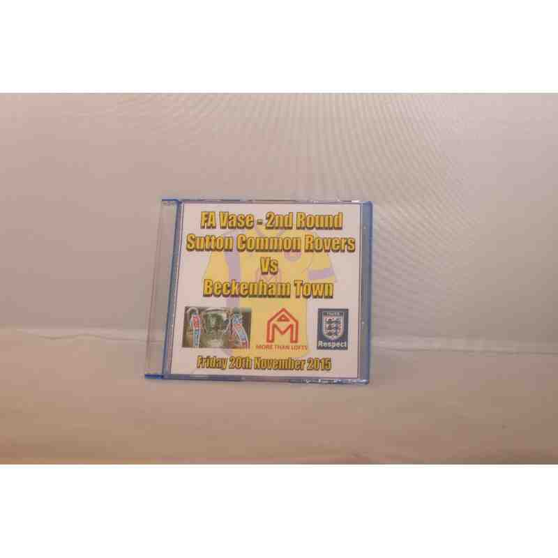 DVD - SCR v Beckenham Town