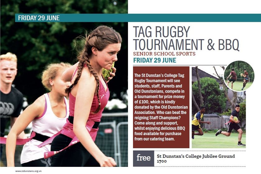 Tag Rugby Tournament & BBQ at St Dunstan's College