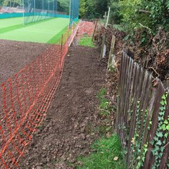Time line photos of Cricket Nets installation Sept 2017