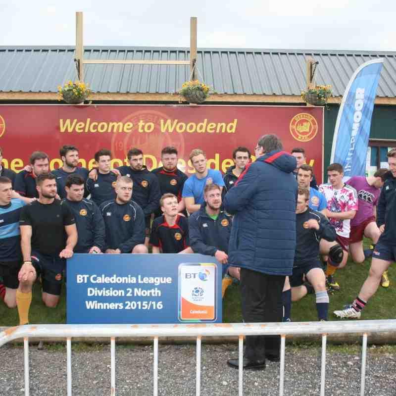 Caledonia North Winners 2015-16 Presentation 14/4/16