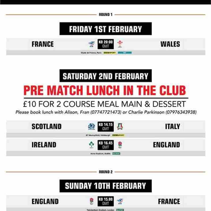 6 Nations Opening Weekend - 1st/2nd February