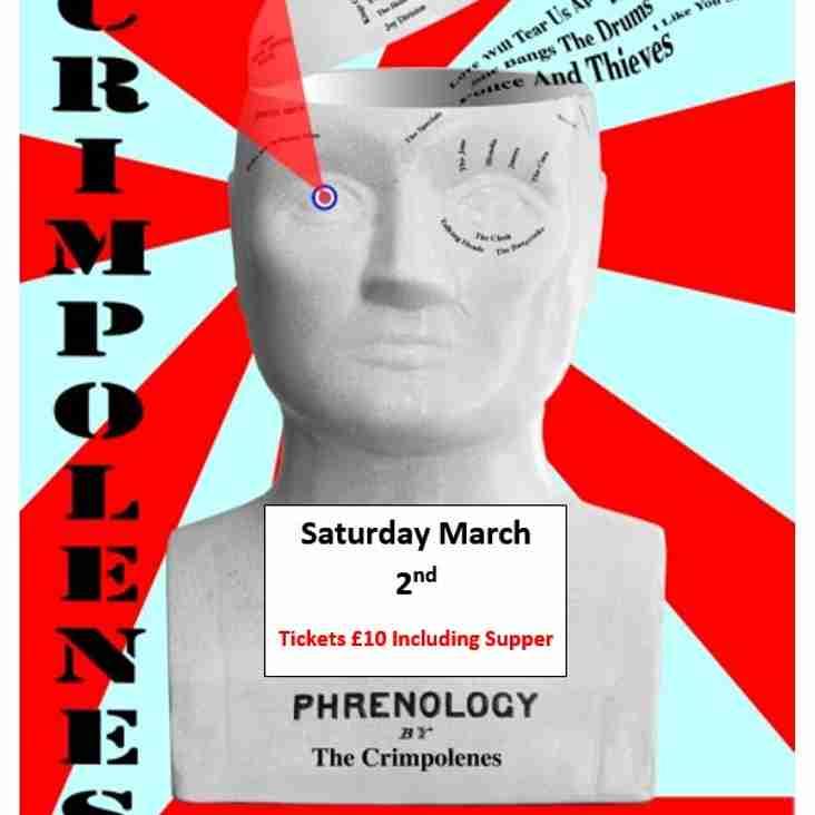The Crimpolenes LIVE - Saturday March 2nd