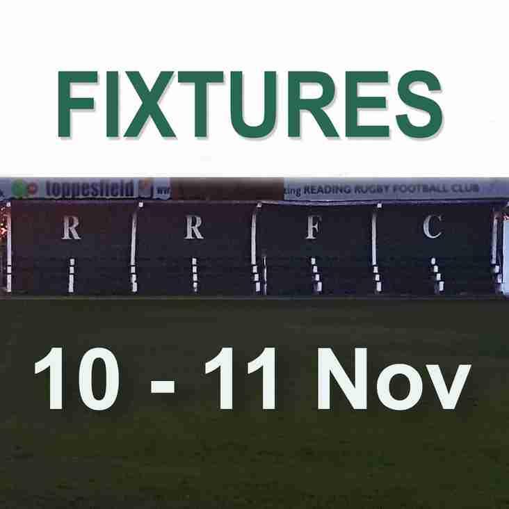 Fixtures 10-11 Nov