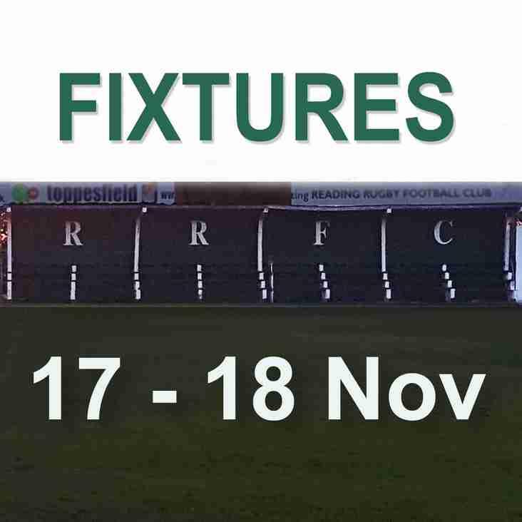 Saturday 17th & Sunday 18th November Fixtures