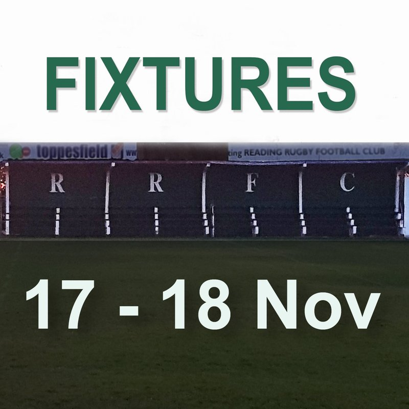 Saturday 17th & Sunday 18th November Fixtures