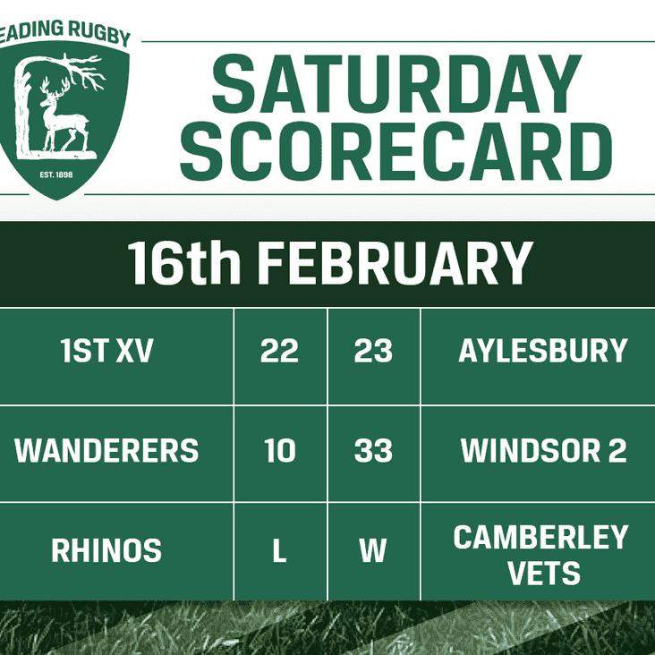 Saturday Scorecard