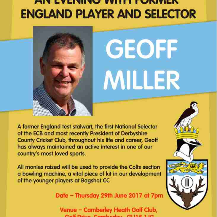 150th Anniversary Event - An Evening With Geoff Miller