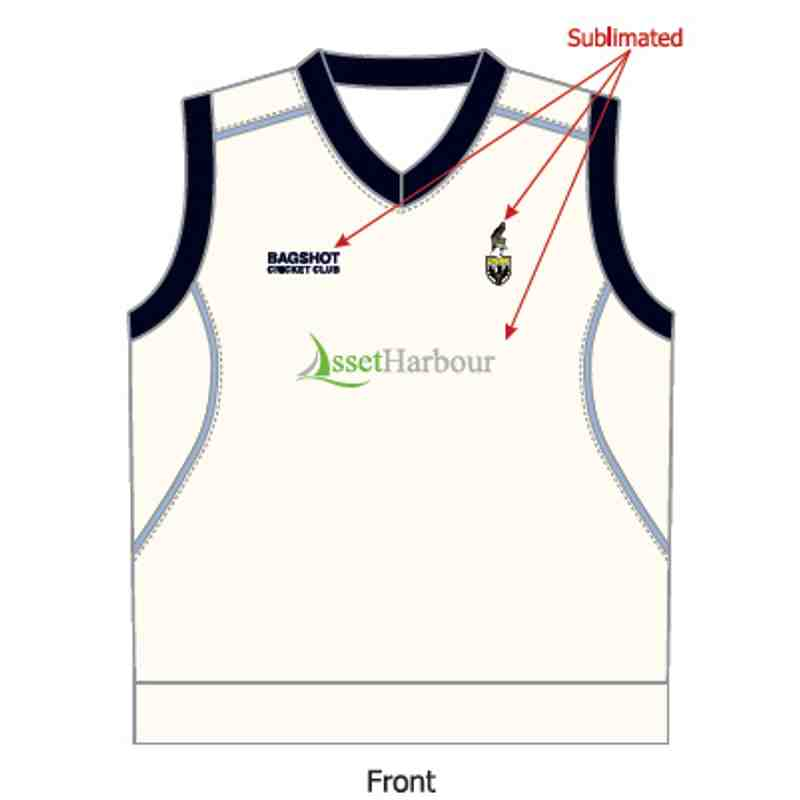 BCC Playing Slip Over - White - Sleeveless - Senior