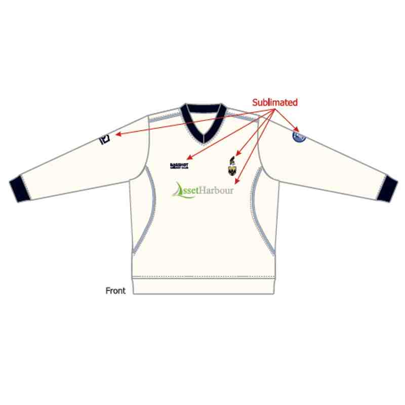 BCC Playing Slip Over - White - Long Sleeve - Junior