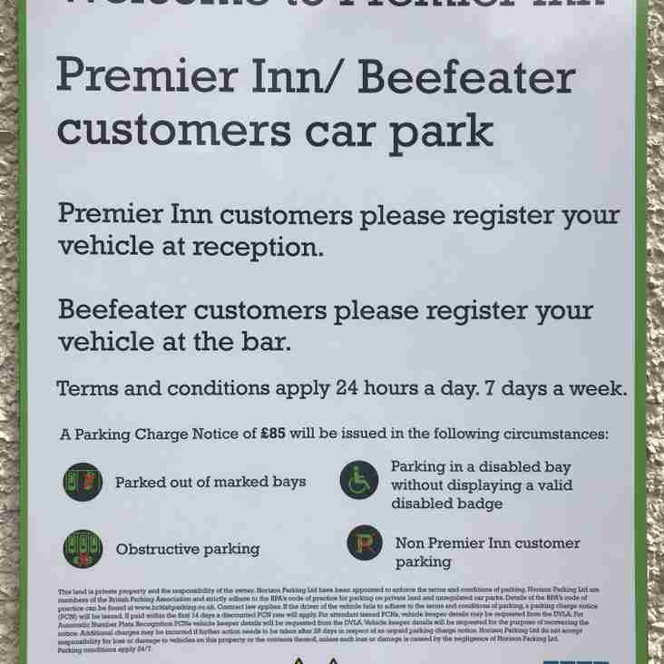 Cricketer's Pub Parking Restrictions