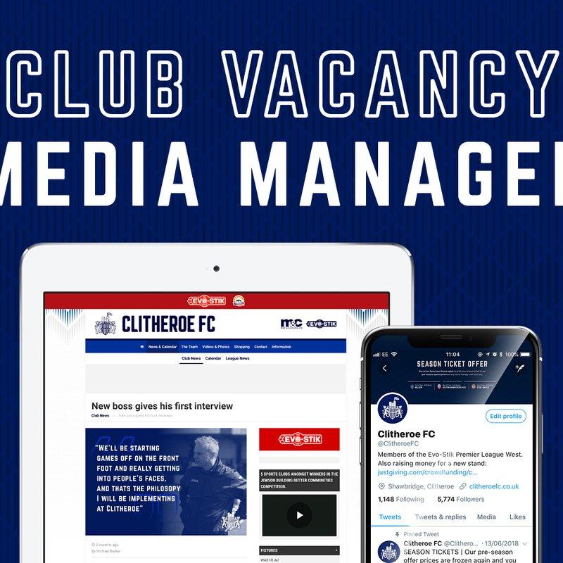 Media volunteer vacancy