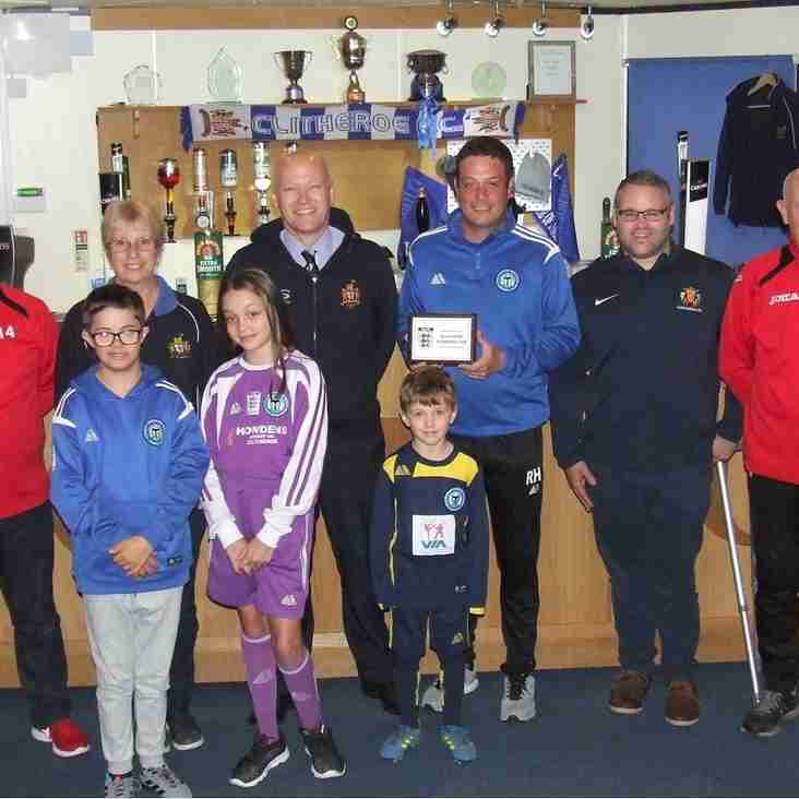 Clitheroe FC and Clitheroe Wolves awarded Community Club status