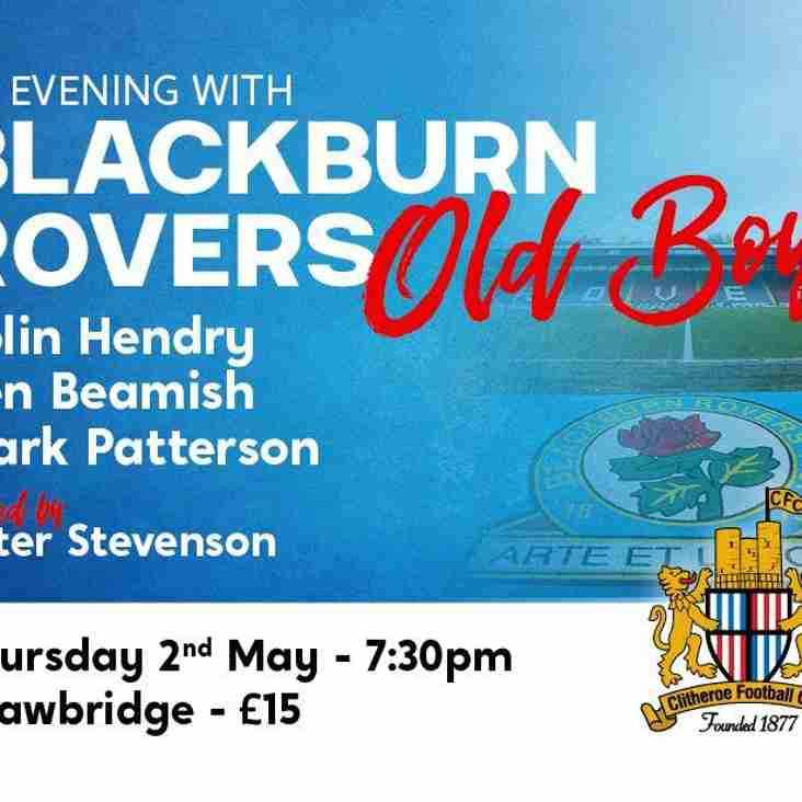 An evening with Blackburn Rovers Old Boys