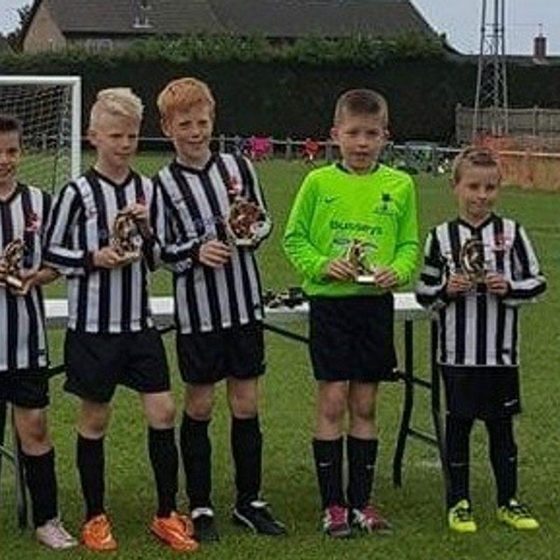 Dereham Town Under 10 Whites win Diss 5 a side Tournament