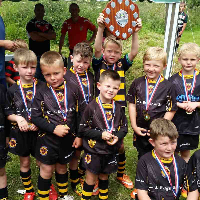 wath brow u7s winning festival shield at broughton 10th July 2015